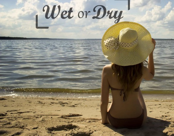 Girl Choosing Wet or Dry
